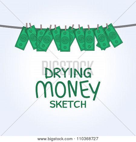 vector drying money
