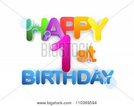 Happy 1St Birthday Title, Light