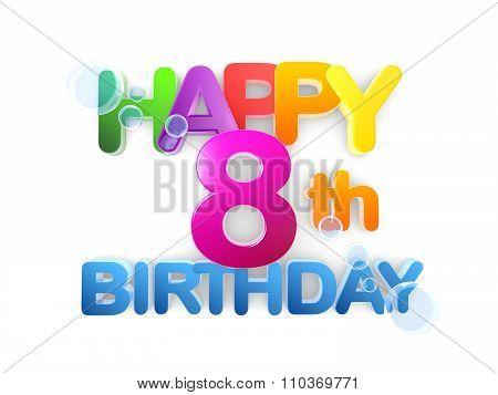 Happy 8Th Birthday Title, Light