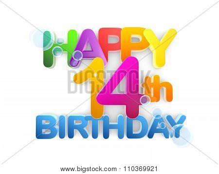 Happy 14Th Birthday Title, Light