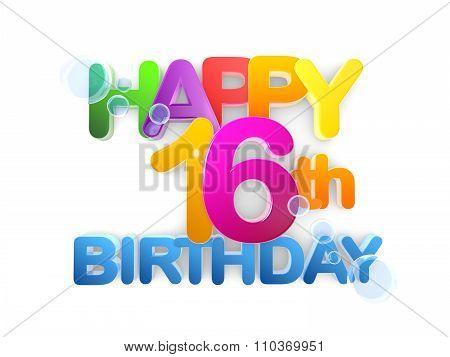 Happy 16Th Birthday Title Light