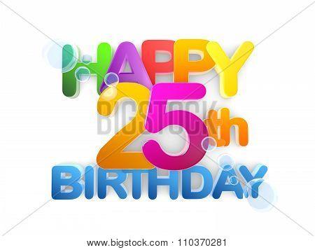 Happy 25Th Birthday Title, Light