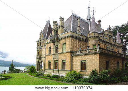 Castle Hunegg. Hilterfingen in the canton of Bern in Switzerland.