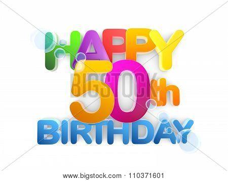 Happy 50Th Title, Birthday Light