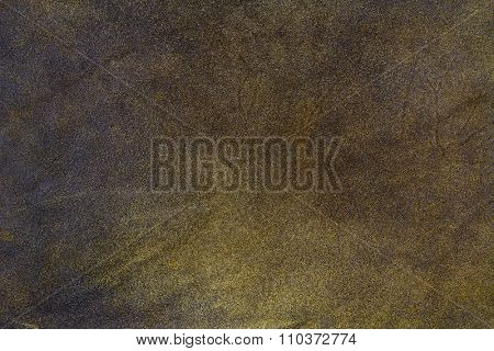 Closeup texture background of natural brown leather made of goat skin