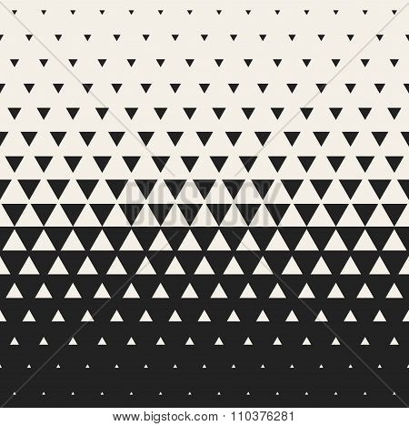 Vector Seamless Black And White Morphing Triangle Halftone Grid Gradient Pattern Geometric Backgroun