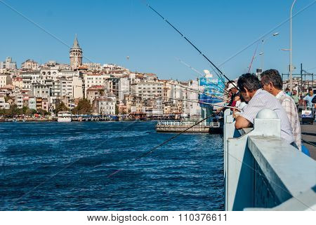 Galata Bridge and Golden Horn in Istanbul