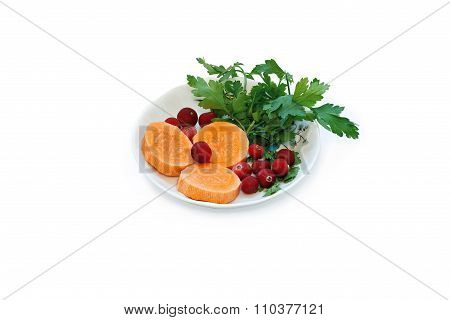 Carrot And Viburnum.