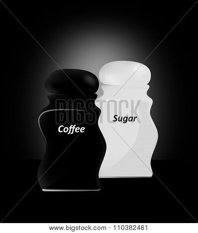 Kitchen Capacities. Sugar And Coffee