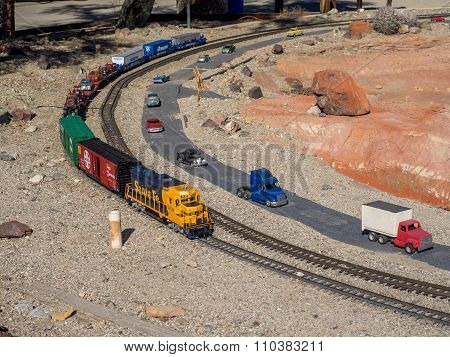 Railroad and City Miniature