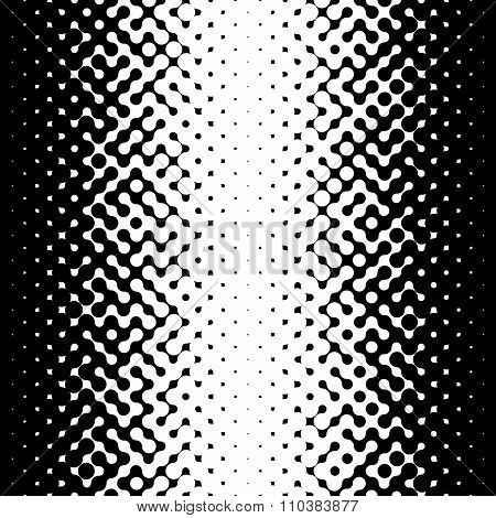 Raster Seamless Black And White Truchet Halftone Gradient Pattern