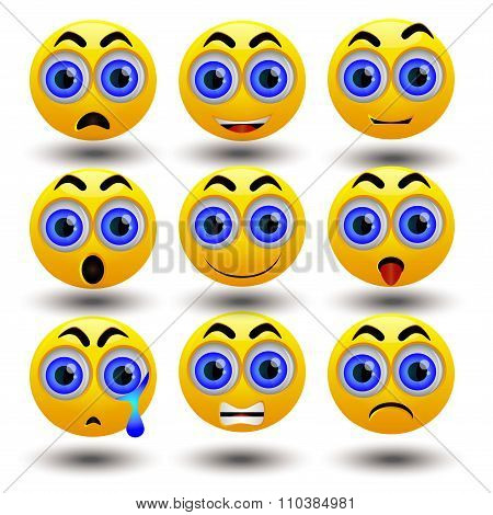 Yellow emoticon set