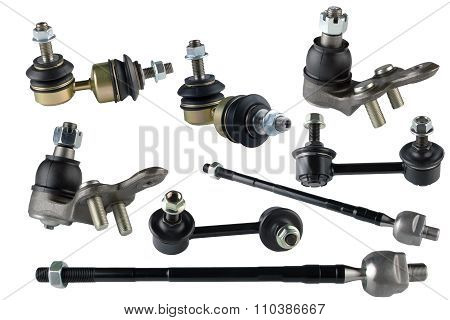 Many spare parts for chassis passenger car