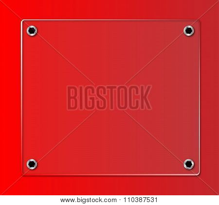 Glass Nameplate