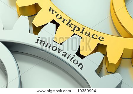 Workplace Innovation Concept On The Gearwheels