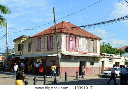 Falmouth downtown, Jamaica