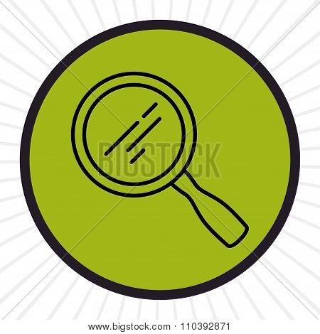Magnifying glass inline icon
