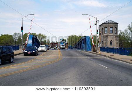 Cars Cross Ruby Street Bridge