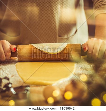 Woman With Rolling Pin