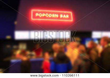 Sparkling Inscription Popcorn In Popcorn Bar