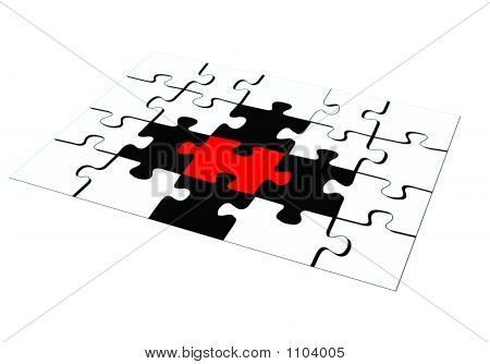 White Black Red Puzzle