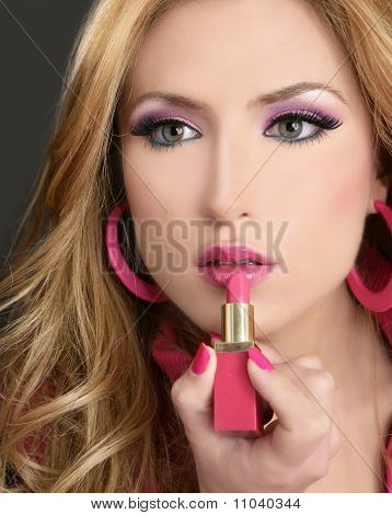 Lipstick Fashion Blondel   Doll Makeup Retro 1980S