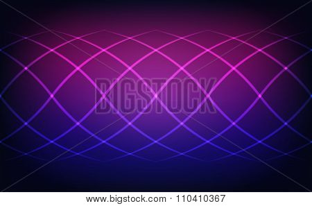 Abstract Lines Blue And Magenta Lights Background