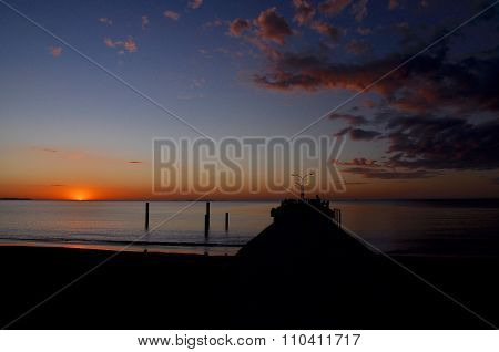 Sunset: Coogee Beach Jetty, Western Australia