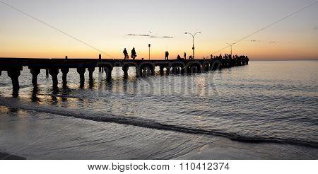 Indian Ocean Sunset:Coogee Beach Jetty