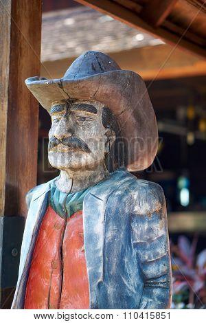 Wood Carve Cowboy