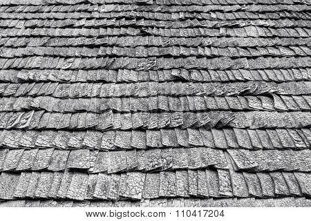 Weathered Wooden Roof Tiles