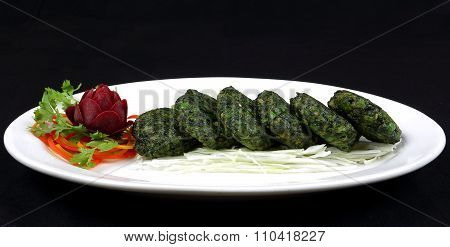 Green vegetable tikka