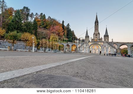 Early Morning View Of Lourdes Sanctuary