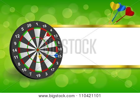 Background abstract green gold darts board frame stripes illustration vector