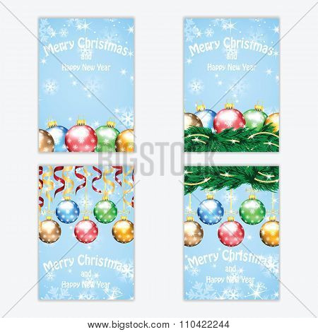 Christmas And New Year Background With Christmas Tree And Christmas Decorations
