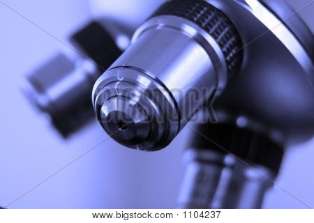 A Lens From Microscope Used In Medical Laboratory