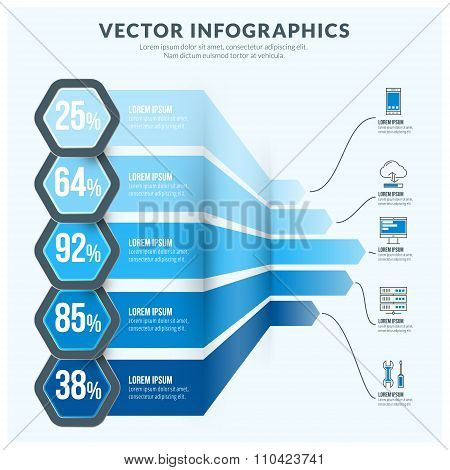 Vector Abstract Infographic Design Element. Flat Style Vector Illustration For Data Visualisation Or