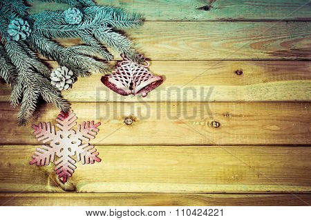 Christmas decorative background.