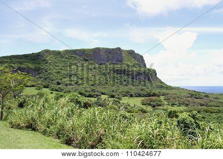 Suicide cliff in Saipan North Mariana Islands