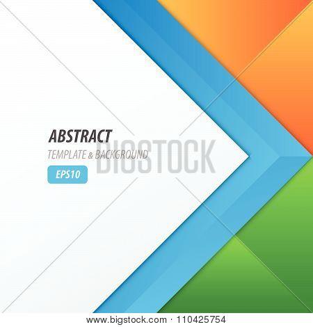 Background Overlap Dimension Modern, Blue, Green, Orange Color