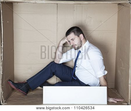Businessman Depressed After Losing Job