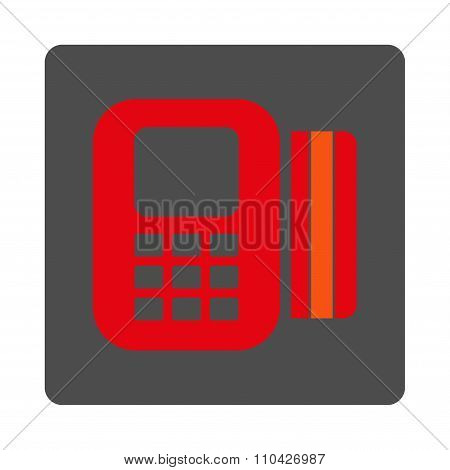 Card Processor Rounded Square Button