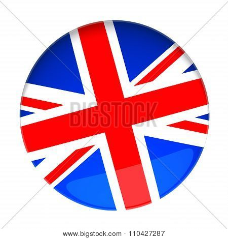 3D Rendering Of A Badge With The United Kingdom Flag