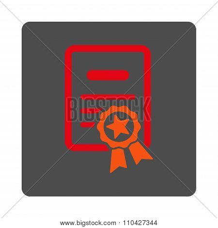 Certified Certification Rounded Square Button