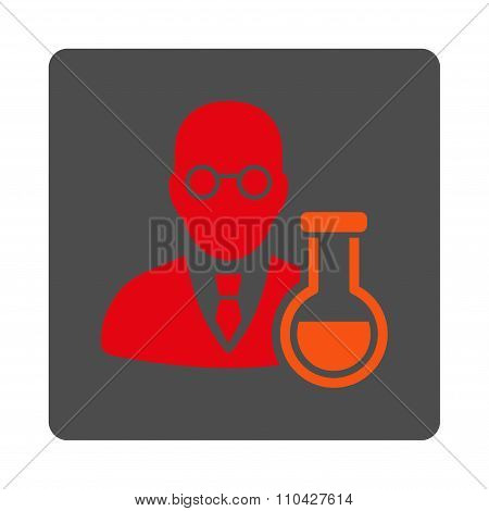 Chemist Rounded Square Button