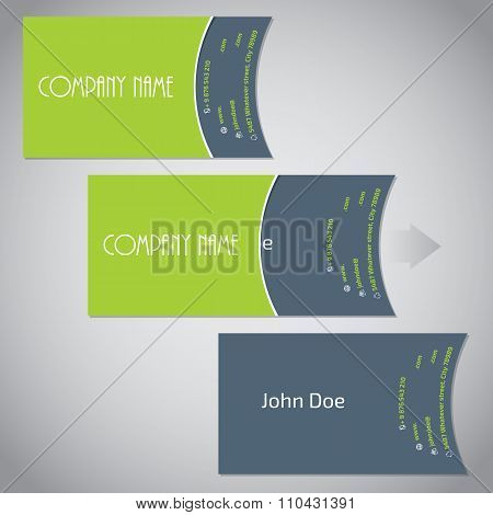 Simplistic Two Piece Business Card