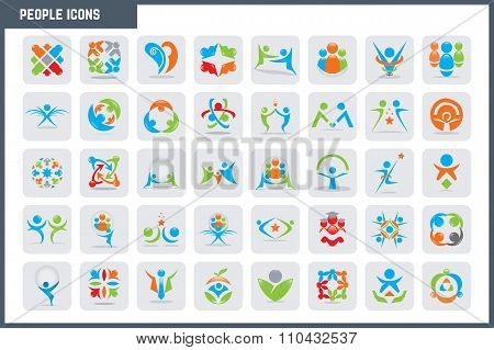 Vector People Colorful Icon Set