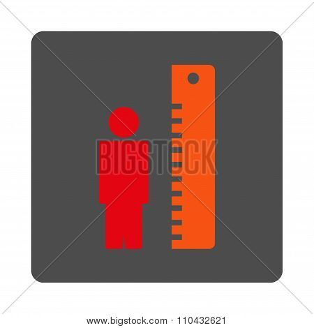 Height Meter Rounded Square Button