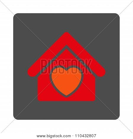 Hospice Rounded Square Button