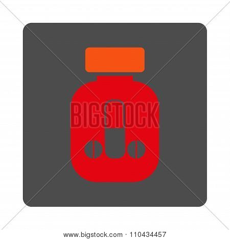 Male Medicine Rounded Square Button